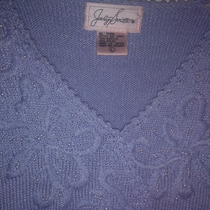 Jaclyn Smith Sweaters - Lavender Sweater with Beading-Gorgeous